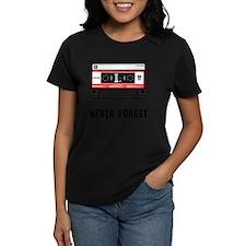 Never Forget Cassette Black Tee