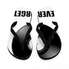 Never Forget Vinyl Black Flip Flops