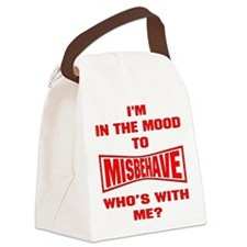 blk_mood_misbehave Canvas Lunch Bag