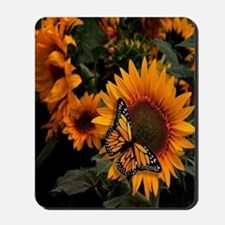 Sunflower Radiance Monarch Butterfly Mousepad