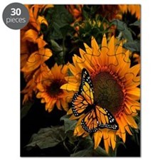 Sunflower Radiance Monarch Butterfly Puzzle