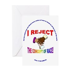 I Reject the Concept of Race 7 Greeting Card