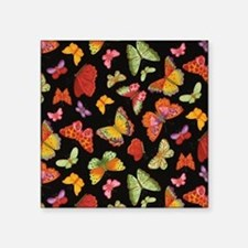 "Fancy Butterfly Style Square Sticker 3"" x 3"""
