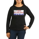 ShowMeTheLaw Women's Long Sleeve Dark T-Shirt