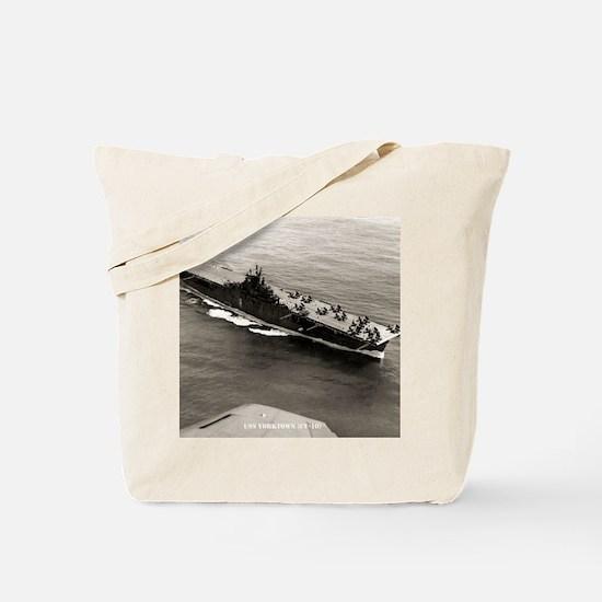 yorktown cv framed panel print Tote Bag