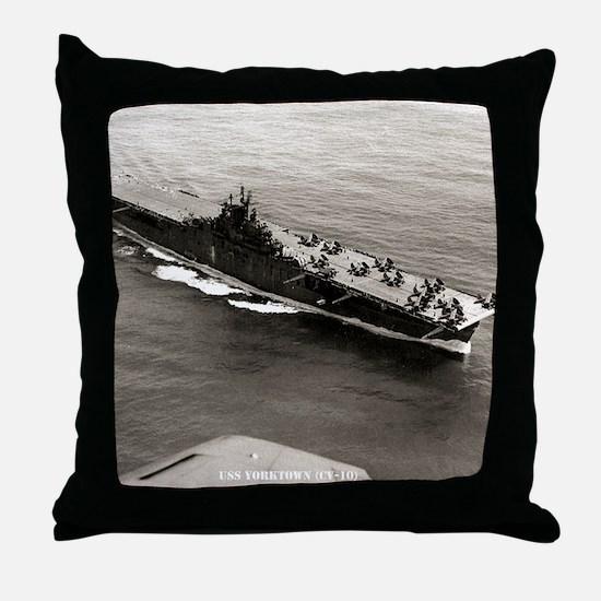 yorktown cv framed panel print Throw Pillow