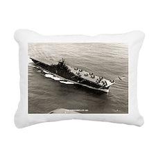 yorktown cv large framed Rectangular Canvas Pillow