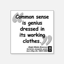 "Ralph Waldo Emerson Square Sticker 3"" x 3"""