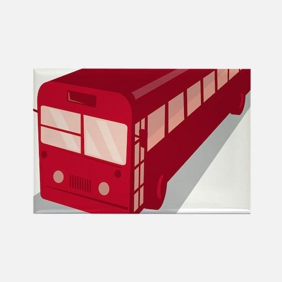 vintage shuttle bus coach retro Rectangle Magnet