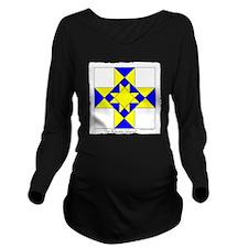 Rhode Island square  Long Sleeve Maternity T-Shirt