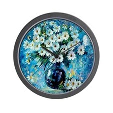 Daisy Treasures Bouquet Wall Clock