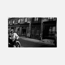 motorcycle in Paris 3'x5' Area Rug