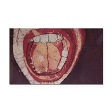 Mouth Batik Rectangle Car Magnet