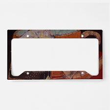Teacup batik License Plate Holder