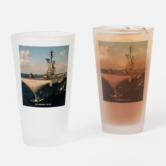yorktown cvs framed panel print Drinking Glass