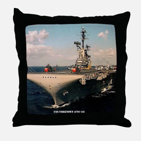 yorktown cvs framed panel print Throw Pillow