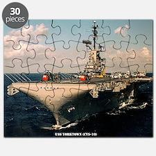 yorktown cvs framed panel print Puzzle