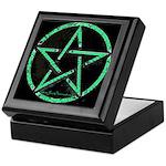 Green Plasma Pentacle Keepsake Box