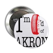 """Tired of Akron 2.25"""" Button"""