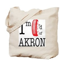 Tired of Akron Tote Bag