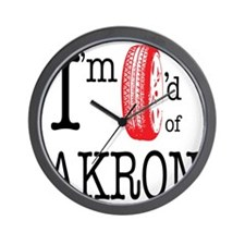 Tired of Akron Wall Clock