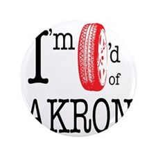 """Tired of Akron 3.5"""" Button"""