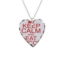 keepCALM-bacon-red Necklace