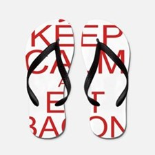 keepCALM-bacon-red Flip Flops
