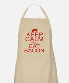 keepCALM-bacon-red Apron