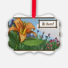 Tiger Lily Greeting Ornament