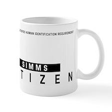 Simms Citizen Barcode, Mug