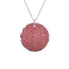 Pink and Gold Glam Leopard Pattern Necklace