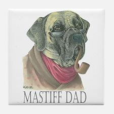 Mastiff Dad Ceramic Tile Coaster
