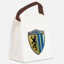 Leipzig Germany Metallic Shield Canvas Lunch Bag