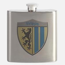 Leipzig Germany Metallic Shield Flask