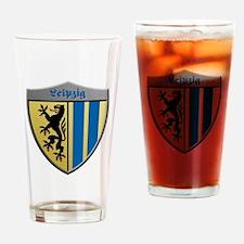 Leipzig Germany Metallic Shield Drinking Glass