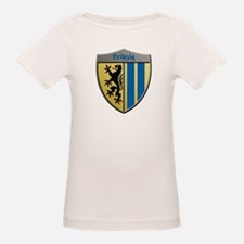 Leipzig Germany Metallic Shield T-Shirt