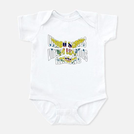 US Virgin Islands flag fan Infant Bodysuit