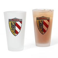 Nuremberg Germany Metallic Shield Drinking Glass