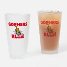 Gophers Rule! Drinking Glass