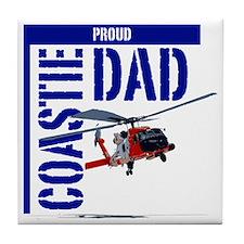Love my Coastie - Proud Dad - Helo Tile Coaster