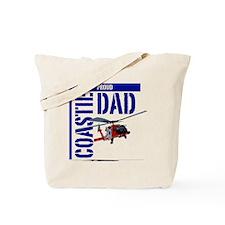 Love my Coastie - Proud Dad - Helo Tote Bag