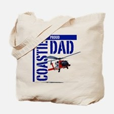 Love my Coastie - Proud Dad - Helo Tote Bag