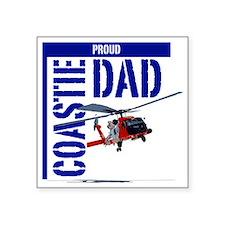 "Love my Coastie - Proud Dad Square Sticker 3"" x 3"""