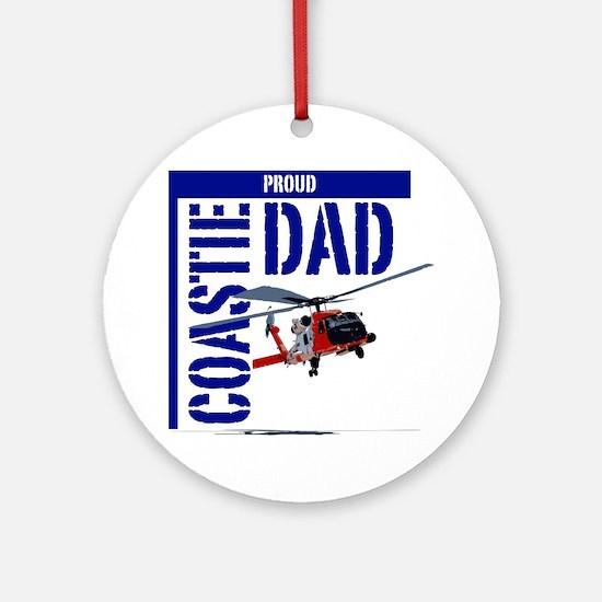 Love my Coastie - Proud Dad - Helo Round Ornament