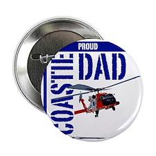 "Love my Coastie - Proud Dad - Helo 2.25"" Button"