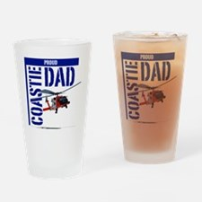 Love my Coastie - Proud Dad - Helo Drinking Glass