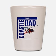 Love my Coastie - Proud Dad - Helo Shot Glass