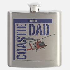 Love my Coastie - Proud Dad - Helo Flask