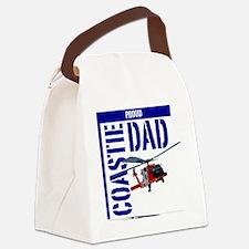 Love my Coastie - Proud Dad - Hel Canvas Lunch Bag
